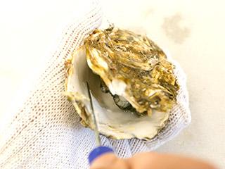 牡蠣のむきかた